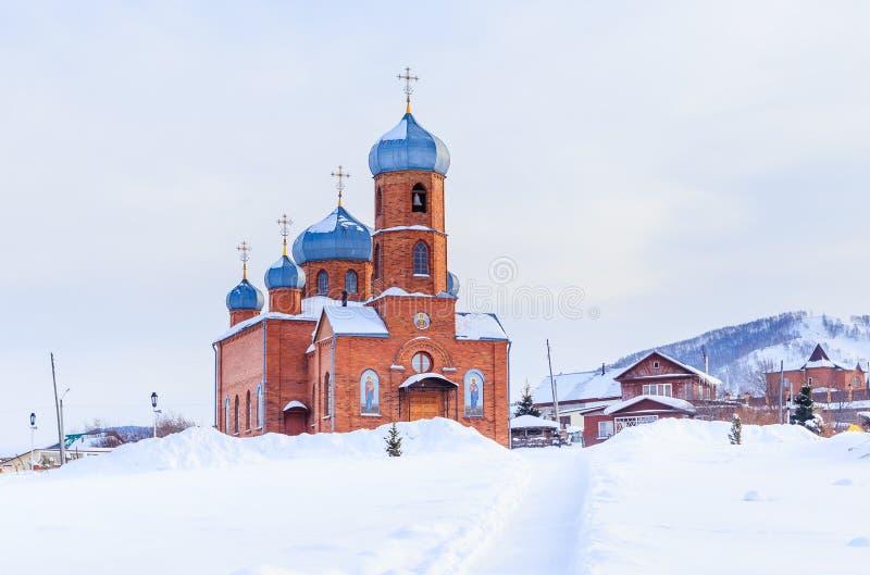 Église de St Panteleimon le guérisseur, Belokurikha, Altai photo libre de droits