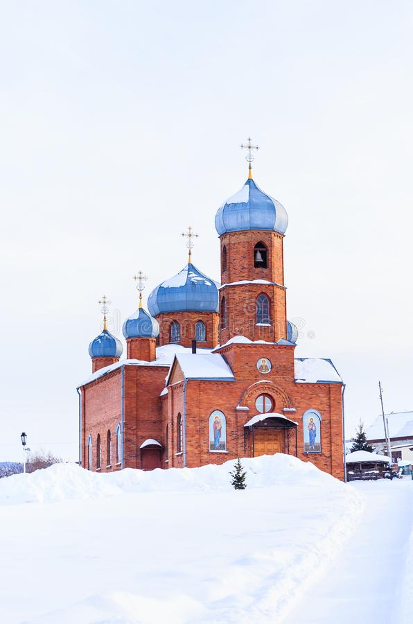 Église de St Panteleimon le guérisseur, Belokurikha, Altai photos stock