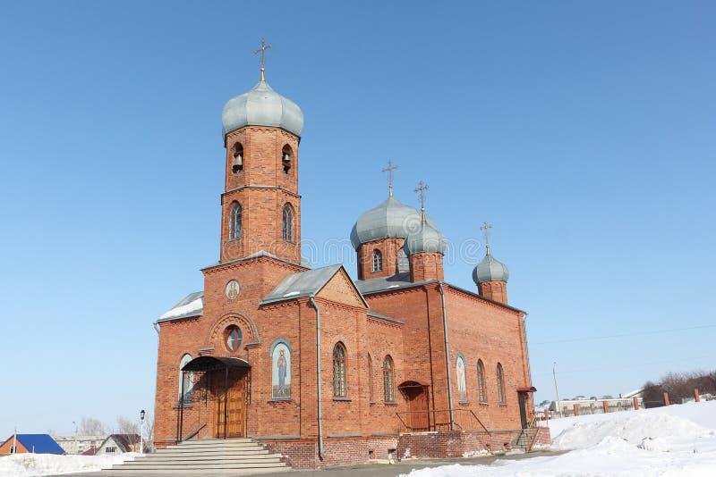 Église de St Panteleimon le guérisseur, ville de Belokurikha, Altai photos stock