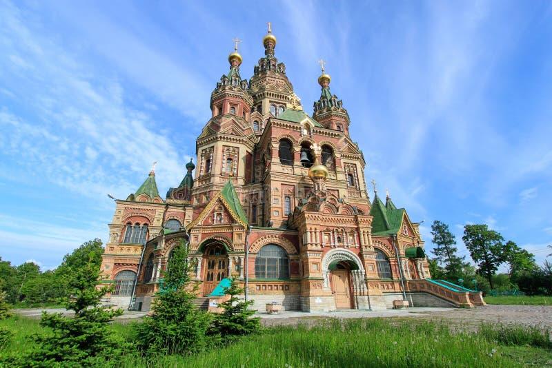 Église de St Peter et de Paul Church Saint Petersburg, Russie image libre de droits