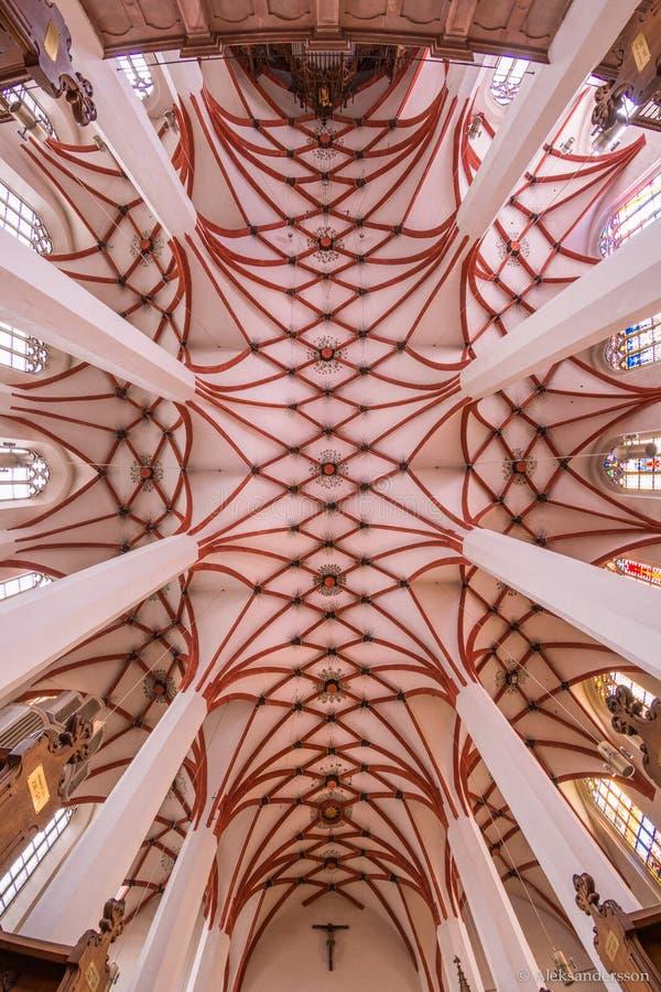 Église de St Thomas à Leipzig, Allemagne photographie stock libre de droits