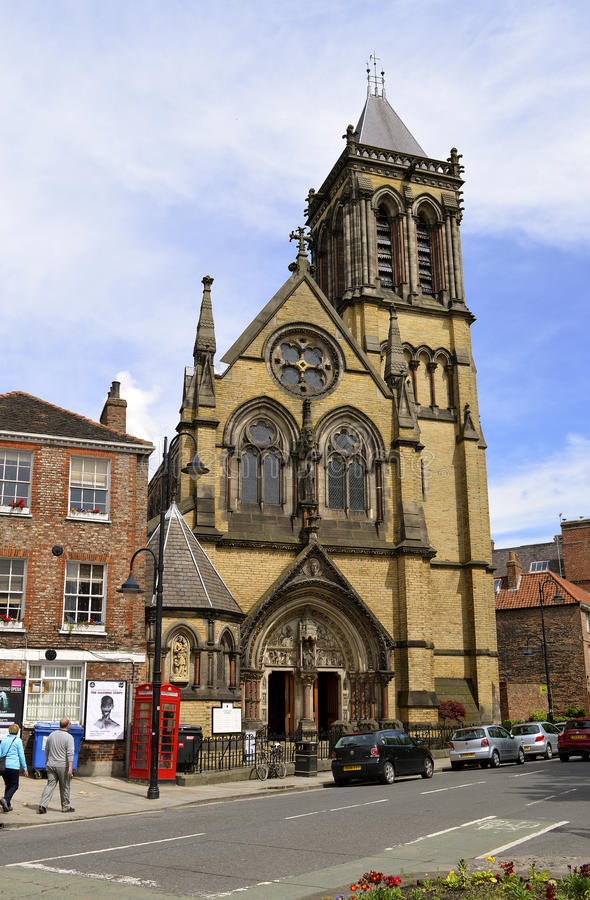 Église de St Wilfrid Roman Catholic à York photo stock