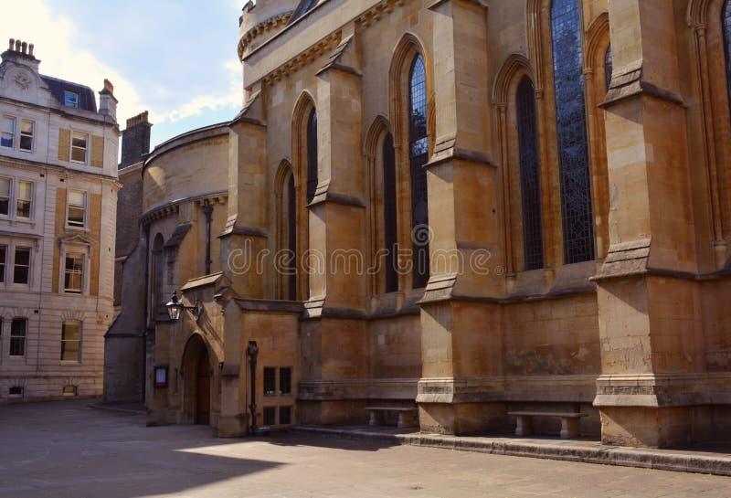 Église de temple, église médiévale construite par les chevaliers Templar, Londres, R-U images libres de droits