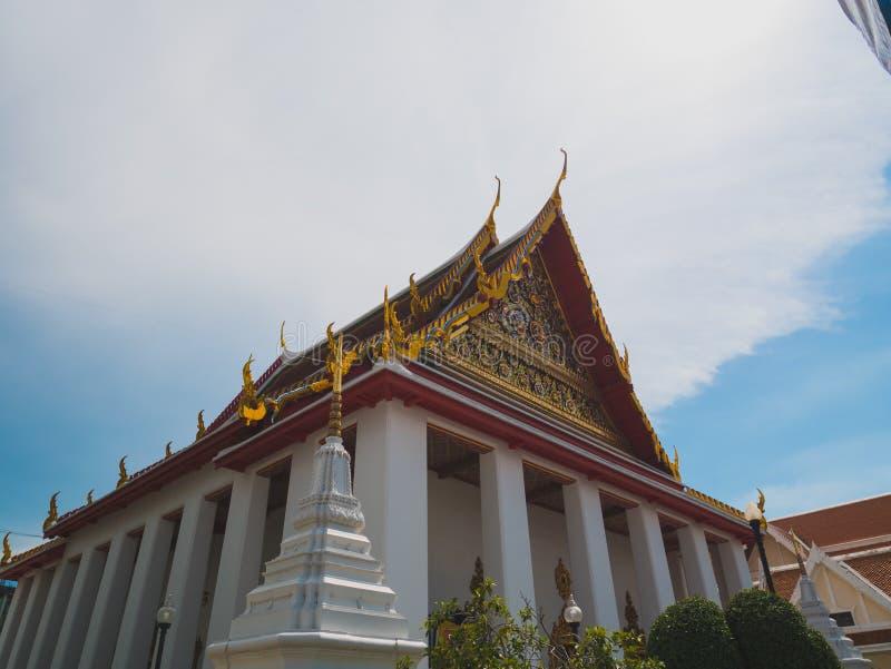 Église de temple bouddhiste thaïlandais photographie stock libre de droits