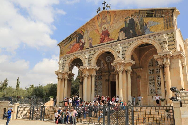 Église de toutes les nations (basilique de l'agonie) photo libre de droits
