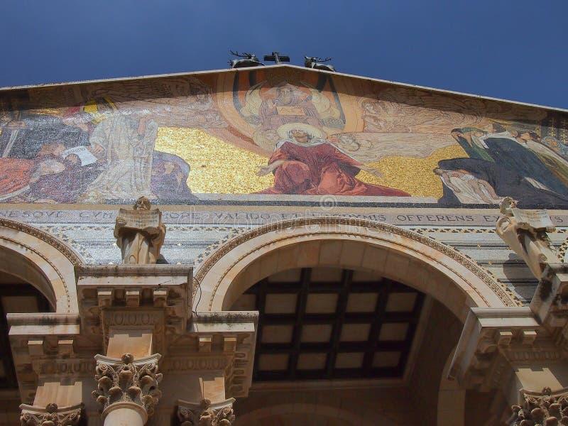 Église de toutes les nations, Gethsemane, Jérusalem, Israël images stock