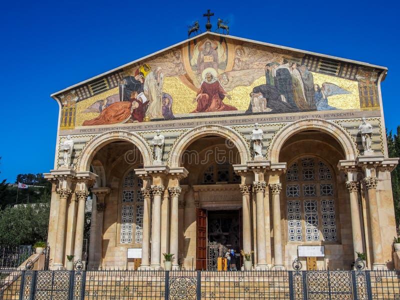Église de toutes les nations, Jérusalem images libres de droits