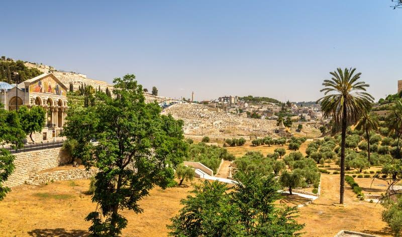 Église de toutes les nations la vallée Cédron - à Jérusalem photographie stock libre de droits