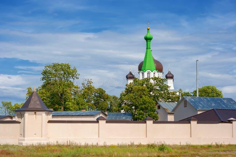 Église de Vasknarva. l'Estonie image stock