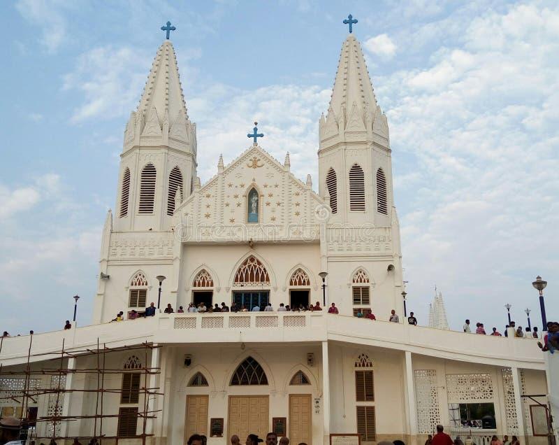 Église de Velankanni photographie stock libre de droits