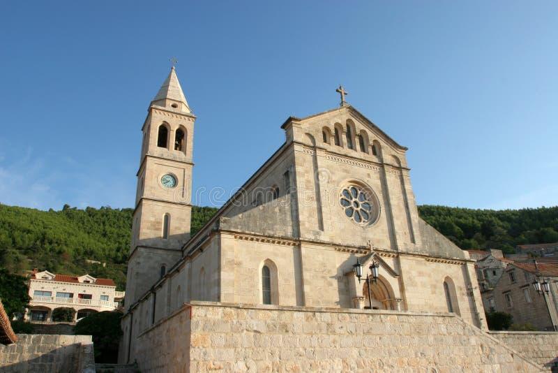 Église de Vierge bénie de la purification dans Smokvica, Croatie photos stock