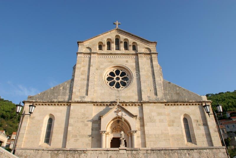 Église de Vierge bénie de la purification dans Smokvica, Croatie photographie stock libre de droits