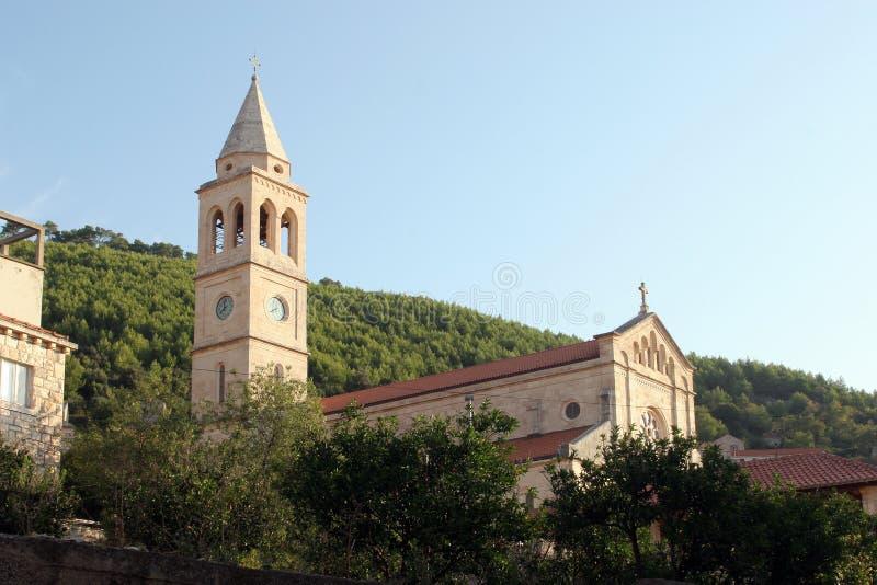 Église de Vierge bénie de la purification dans Smokvica, Croatie photo libre de droits