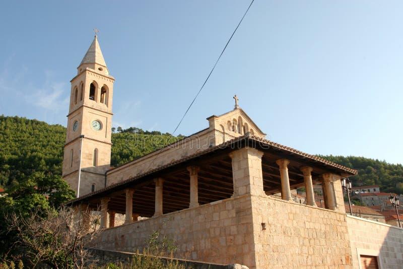 Église de Vierge bénie de la purification dans Smokvica, Croatie images libres de droits