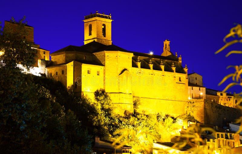 Église de Villafames dans la nuit photographie stock
