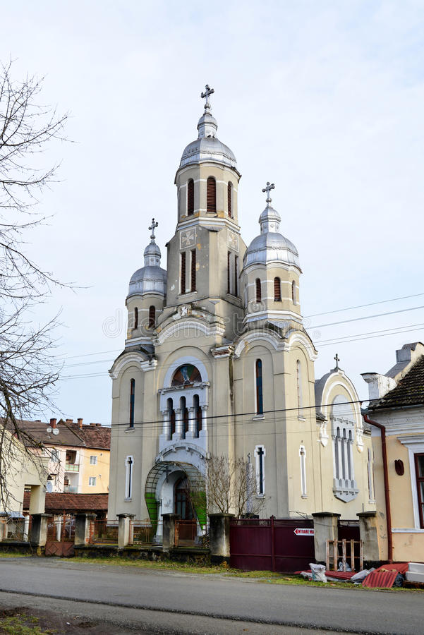 Église de village de Barzava photos stock