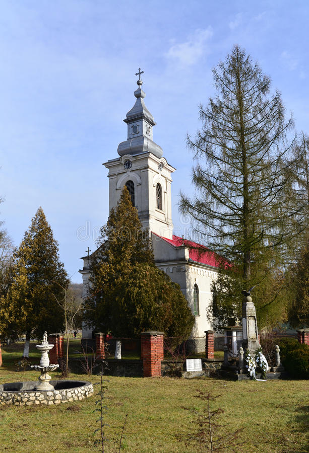 Église de village de Barzava images libres de droits