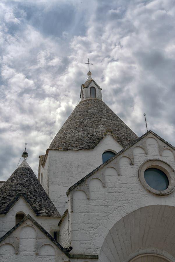 Église de village de Trullo image stock