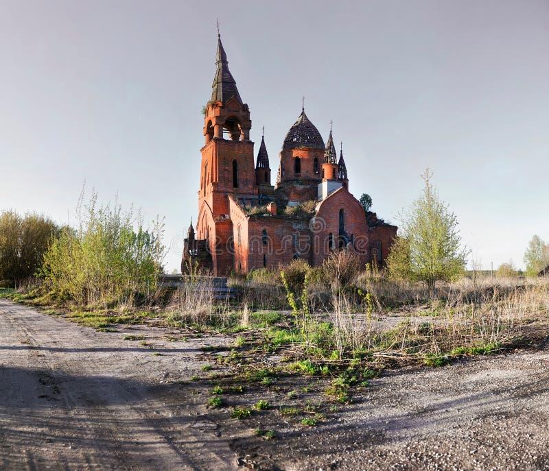 Église de Vvedenskaya la présentation de Vierge Marie béni dans le temple Architecture russe de renaissance photographie stock libre de droits