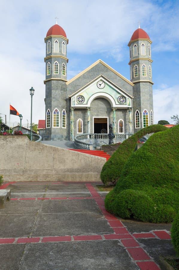 Église de Zarcero photos stock