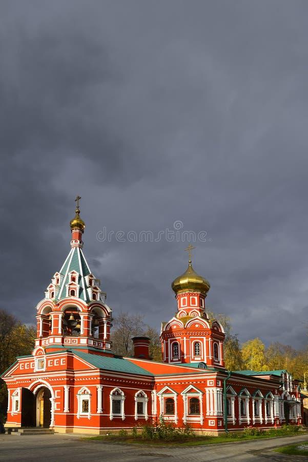 Église de Znamenskaya image stock