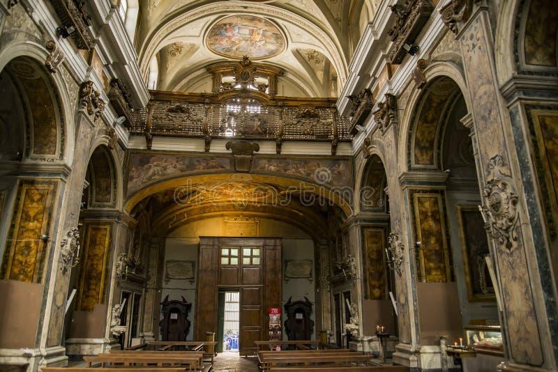 Église des saints Filippo et Giacomo à Naples, Italie image libre de droits