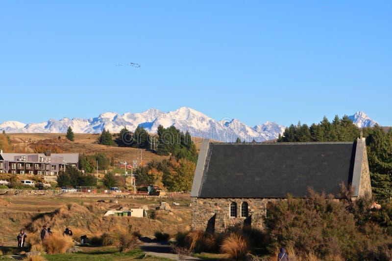 Église du bon berger au lac Tekapo image stock