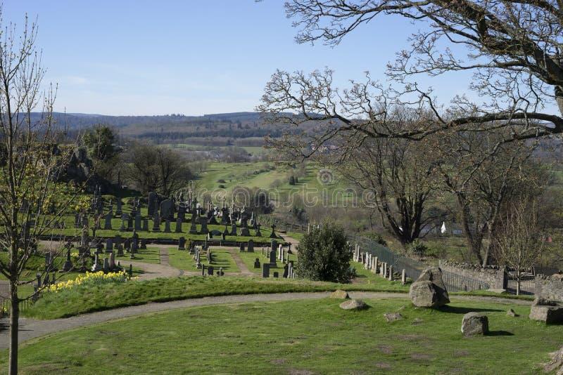 Église du cimetière grossier saint - Ecosse photographie stock libre de droits
