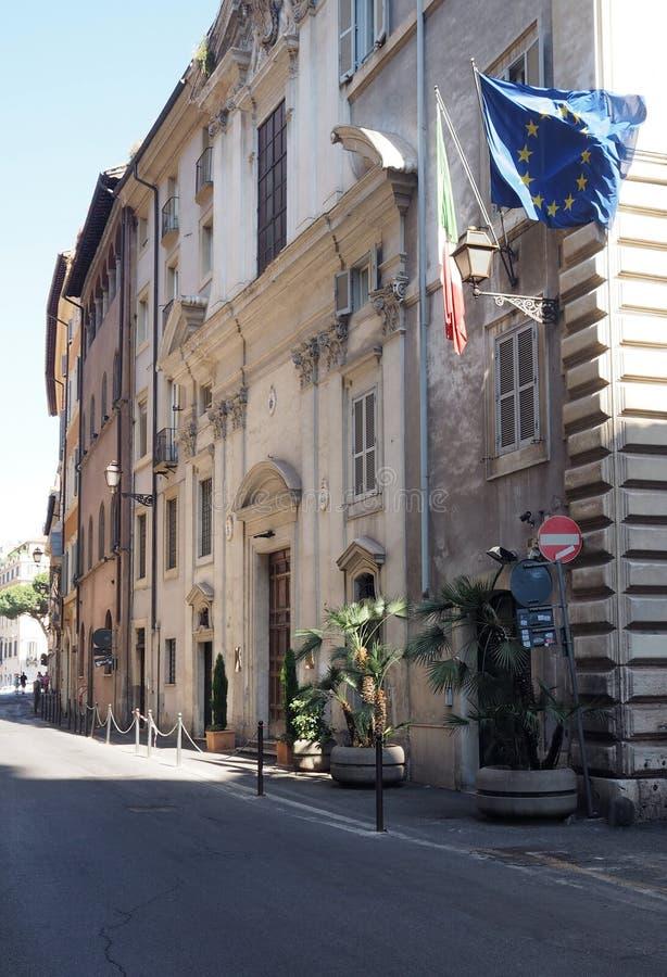 Église du linceul le plus saint chez l'Argentine à Rome images libres de droits