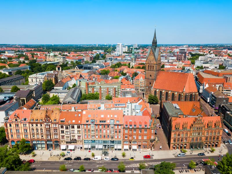 Église du marché de Marktkirche à Hanovre image libre de droits