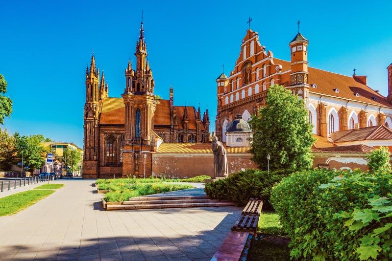 Église du ` s de St Anne à Vilnius, Lithuanie photos libres de droits