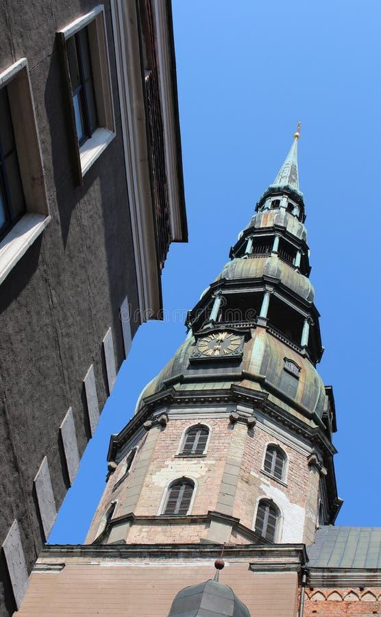 Église du ` s de St Peter à Riga, Lettonie photo libre de droits