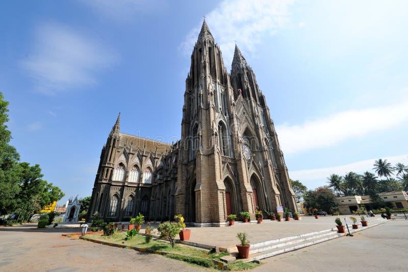 Église du ` s de St Philomena à Mysore, Inde photo stock