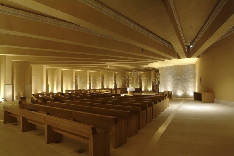 Église du saint Pio de Pietrelcina photographie stock