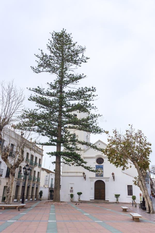 Église du Salvador à Nerja photographie stock