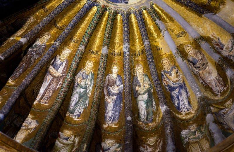 Église du sauveur saint dans Chora à Istanbul, Turquie images stock