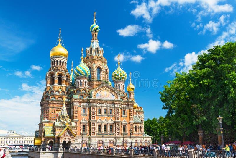 Église du sauveur sur le sang renversé dans le St Petersbourg photo libre de droits
