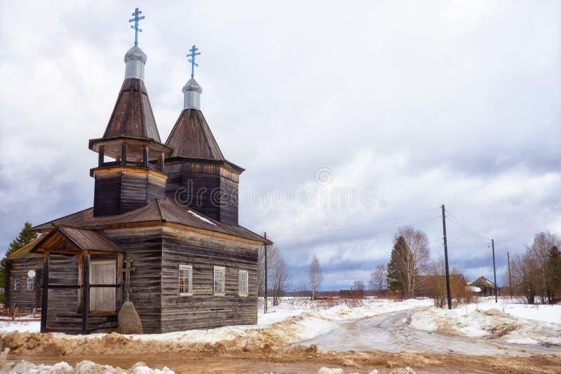 Église en bois image libre de droits