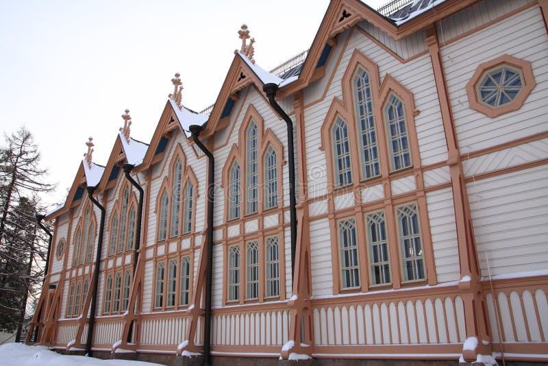 Download église en bois photo stock. Image du beffroi, finland - 8651768