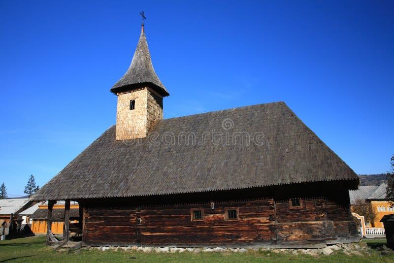 Église en bois de Moisei image stock