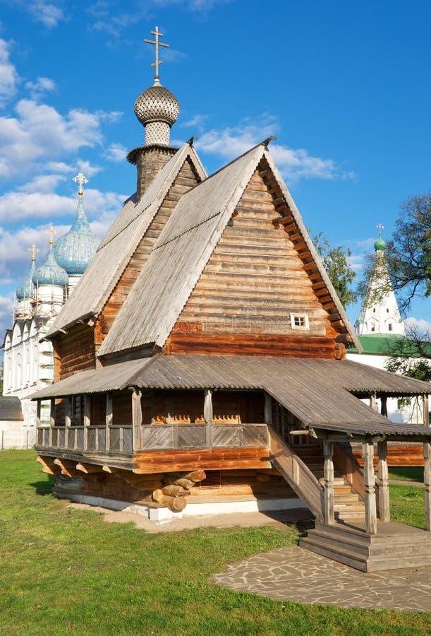 Église en bois de saint Nicholas images stock