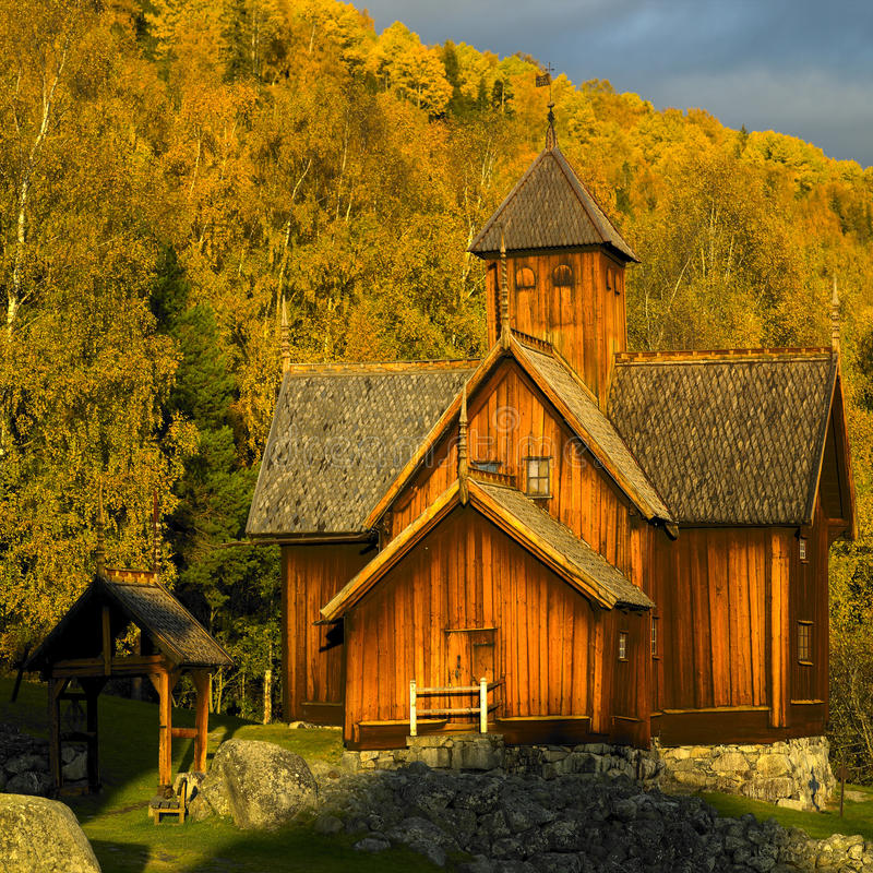 Église en Norvège photo stock