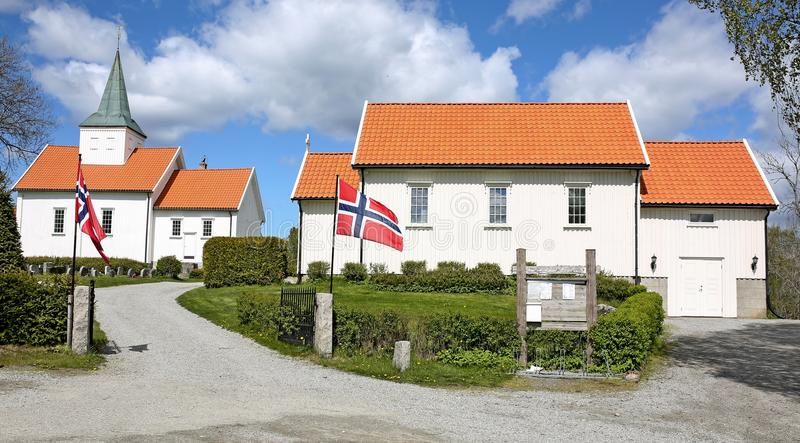 Église en Norvège photographie stock