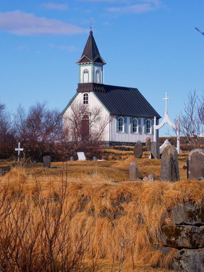 Église en parc national Thingvellir photo libre de droits