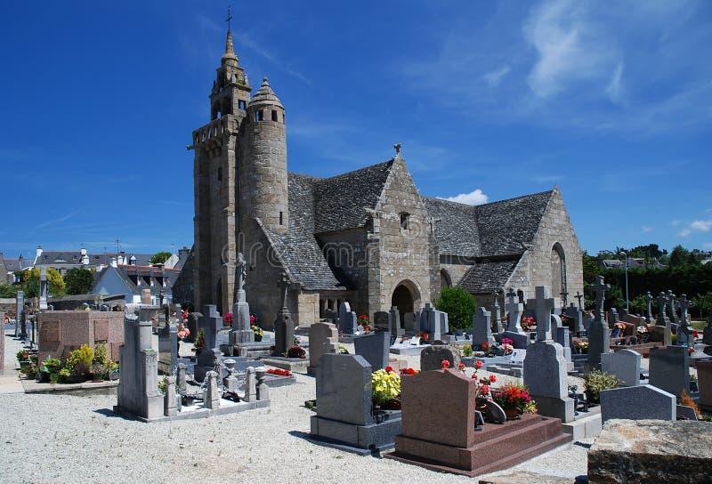Église en pierre dans Brittany image stock