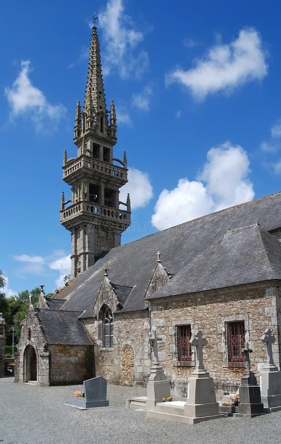 Église en pierre dans Brittany photos libres de droits