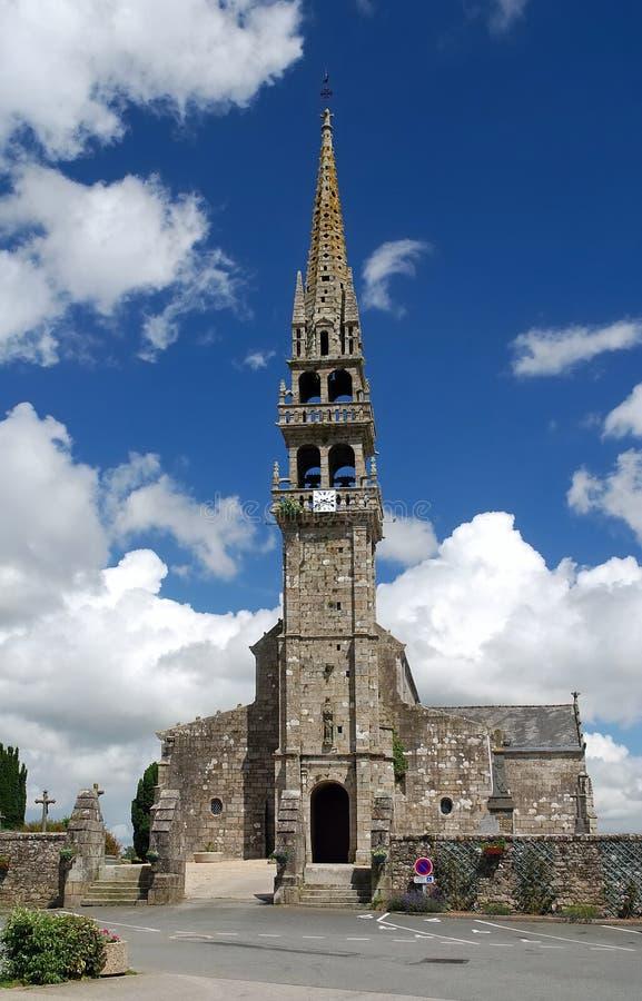 Église en pierre dans Brittany photographie stock libre de droits