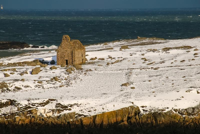 Église en pierre ruinée Île de Dalkey dublin l'irlande photographie stock