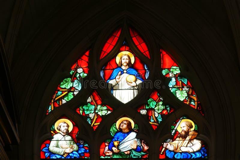 Église en verre souillé d'hublots de Saint-Germain images stock