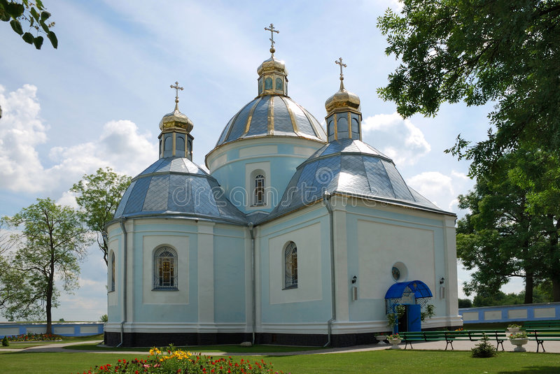 Église en ville Novovolynsk photo libre de droits